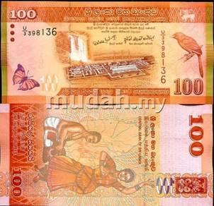 Sri lanka 100 rupees 2010 2011 p new unc