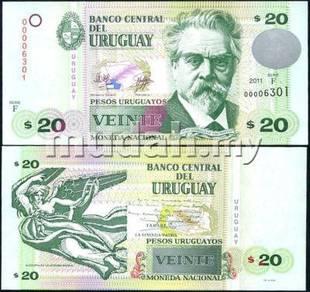 Uruguay 20 Pesos 2011 P New UNC