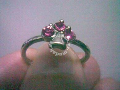 ABRSB-P008 Pink GEMSTONE JEWELRY SILVER RING Sz7.5