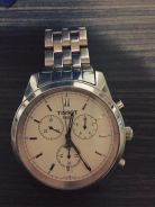 TISSOT white chronograph watch . 100% original