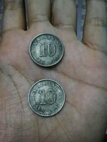 Syiling 10¢ tahun 1968 & 1982