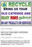 Recycle your used cartridge now promo
