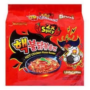 Samyang Chicken Flavor Ramen 2x Spicy (5 x 140g)