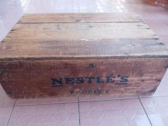 Nestle Wooden Crate Vintage rare than coke f&n