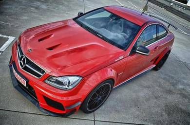 Mercedes w204 c63 amg black edition front hood