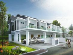 New Double storey terrace house in Kulai
