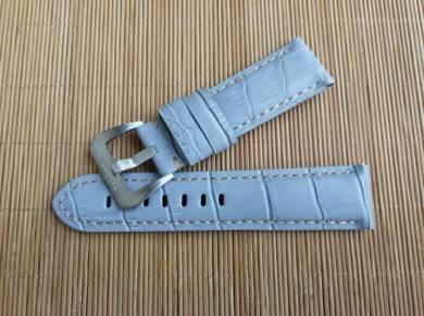 PA NERAI 24mm Light Blue Leather Watch Strap