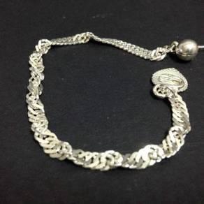 Silver Twist Bracelet