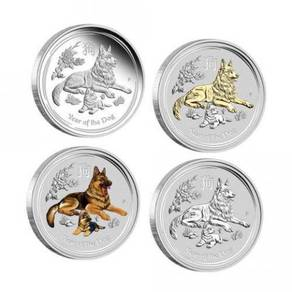Lunar SII 2018 Dog 1oz Silver Typeset Collection