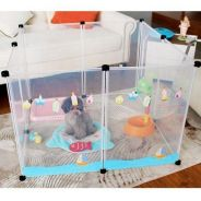 Transparent pet fence / pet playpen 04