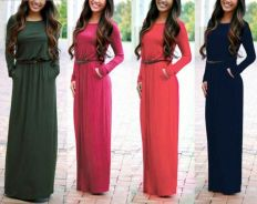 Offer Raya casual Long Sleeve dress with belt