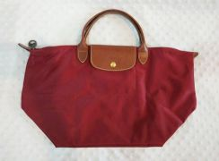 NEW Original Longchamp Medium Short Handle in Wine
