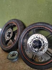 Spotrim with new tyre n full set (spoket)