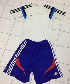 Adidas blue set pants and shirt original