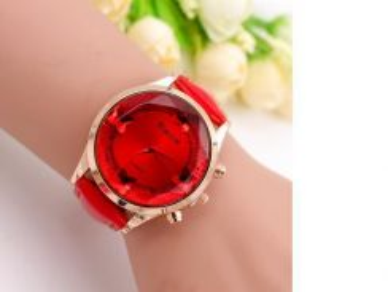 Jam Tangan Wanita Butterfly Design Crystal Watch