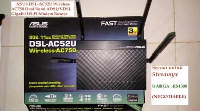 ASUS DSL-AC52U AC750 Modem Router untuk Streamyx