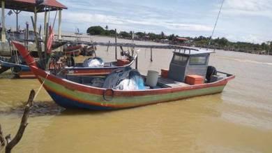 Fiber boat 36 kaki