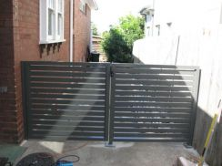 Swing main gate with mild steel