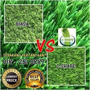 TERBAIK SERAT C Artificial Grass Rumput Tiruan 10