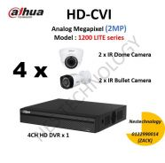 Camera CCTV for House, or Office 4channel +install