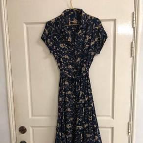 Deep Blue Floral Dress