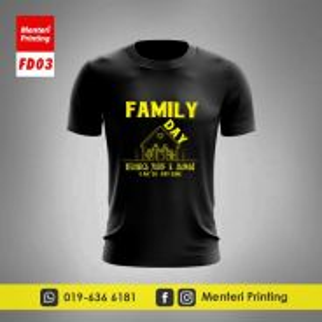 Tshirt Family Day Baju Hari Keluarga FD03