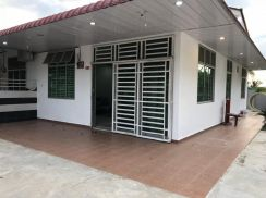 Single storey with fully furnish corner house for sale (kulim)