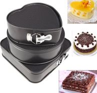 Set of 3 Non Stick Cakeware Moulds