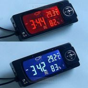 4in1Car Thermometer Hygrometer Radio Digital Clock