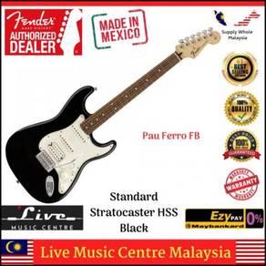 Fender Standard Strat HSS Electric Guitar PFBK