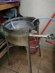 Dapur + kaki dapur + kuali 27cm