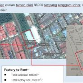 Factory at Simpang renggam