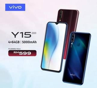 Vivo y15 2020 new 1 year warranty 4/64 gb 9.0