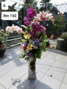(6) Flower With Stand/ Bunga dengan Stand