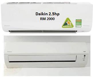 Hurry Up!! 2.5hp Daikin Aircond (can consider new)