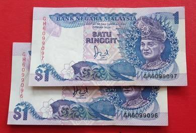 $1 Jaafar Hussein GH6099096-97 (2 pcs)