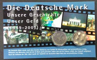 Germany coin card, 1949 - 2001