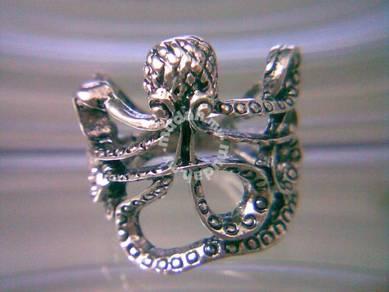 ABRSM-O007 Vintage Silver Metal Octopus Ring S5.75