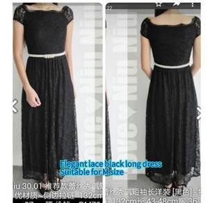 Black elegant long dress