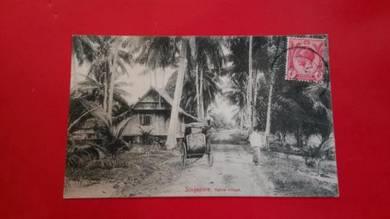 Antik Postcard Native Kampung 1920 No 410