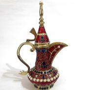 Teko Besar Bunga Bejewelled Rhinestone Teapot