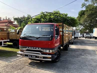 Mitsubishi Canter 3 Ton 14 Kaki Kayu Canvas Lorry