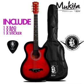 Mukita 38Inch Acoustic Guitar - Merah - 03/2018
