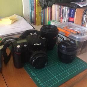 Nikon d90 with 3 lens