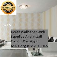 PVC Vinyl Wall paper with Expert Install 5df6