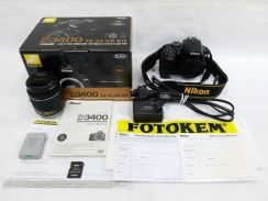 NIKON D3400 with AF-P DX 18-55mm, 4 Years Warranty