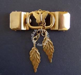 Vintage Art Deco Brass Belt Buckle Clasp