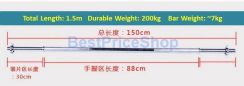 BPS 1.5m Straight Barbell Bar Pole Weightlifting