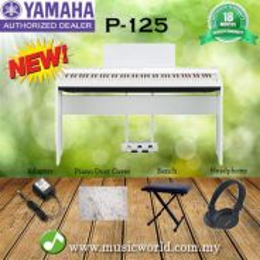 Yamaha p-125 digital piano complete bundle white