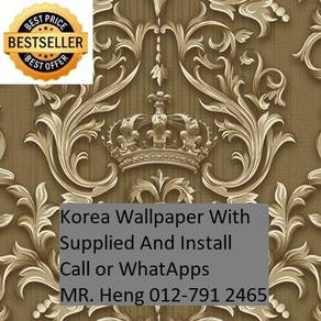 Beautiful In Wall paper with Installation 876rd